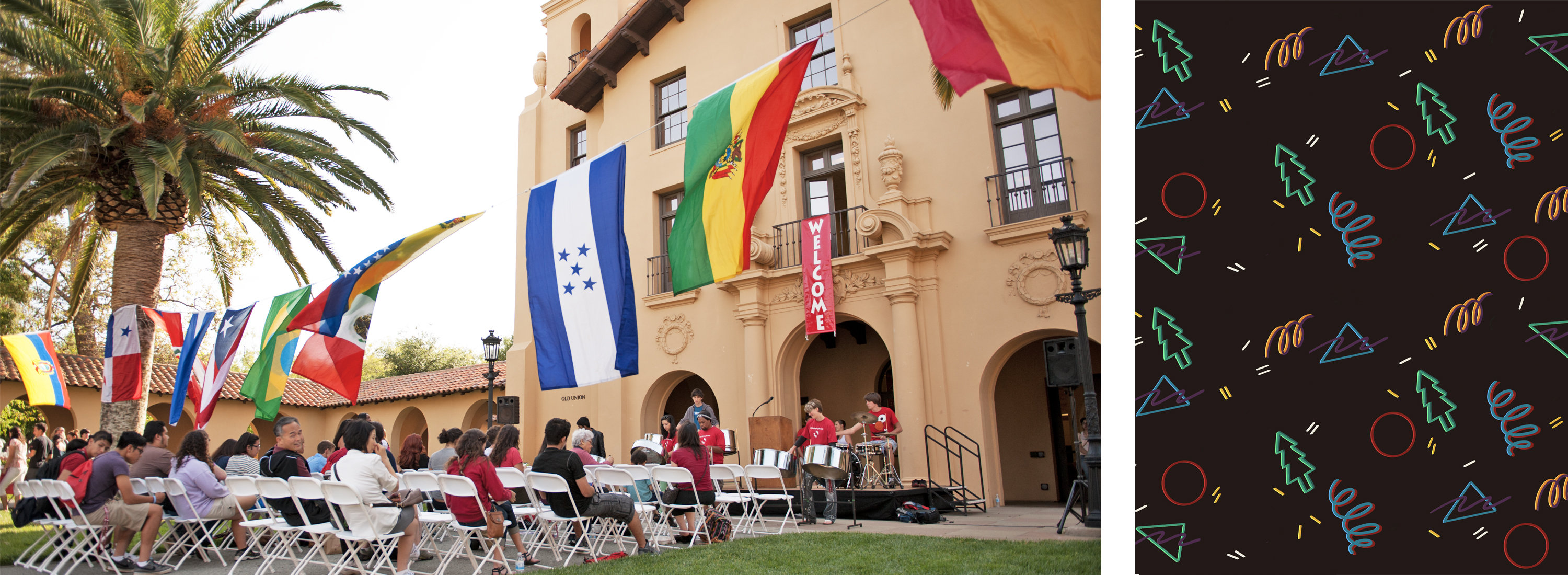 Admit Weekend. El Centro Chicano welcomed admits with food and music at a reception for families in the Old Union courtyard. Credit: Linda A. Cicero / Stanford News Service