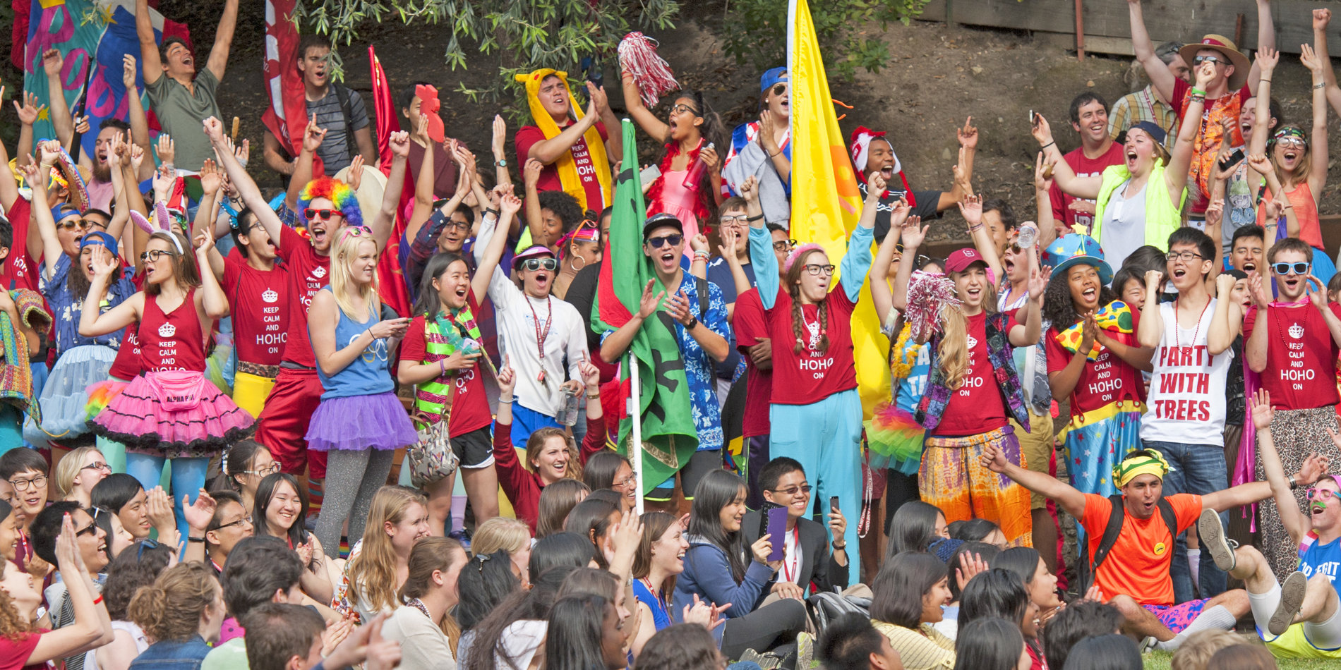 Admits got a warm Stanford welcome from their dorm hosts during Admit Weekend.